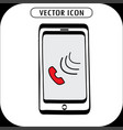 doodle smartphone icon vector image