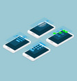 mobile screen lock isometric vector image