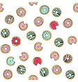 seamless pattern with doodle hand drawn vector image