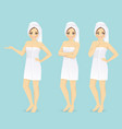 woman in towel vector image