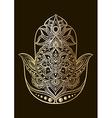 golden hamsa vector image
