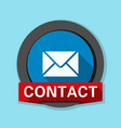 mail contact button vector image