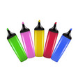 a set of highlighting pens vector image