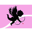 Cupid background vector image