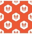 Orange hexagon work team pattern vector image