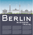 Berlin skyline with grey building and copy space vector image