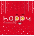 Valentines Day Card Lettering Red Frame vector image