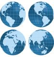 globe views vector image