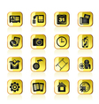 Mobile phone menu icons vector image vector image