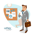 Businessman in his office with report vector image