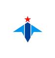 abstract shape geometry star arrow logo vector image