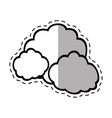 cloud climate weather shadow vector image