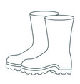 monochrome contour of fishing plastic boots vector image