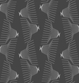 Monochrome pattern with linear abstract jelly fish vector image