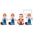 professional electrician with electricity tools vector image