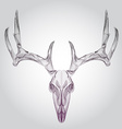 Wireframe hipster design deer skull head vector image