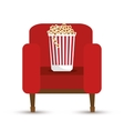 pop corn bucket white background vector image