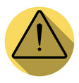 exclamation danger sign flat style flat vector image
