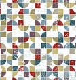 geometric textile abstract seamless pattern vector image vector image