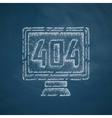 404 error program error icon vector image