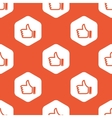 Orange hexagon like pattern vector image