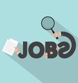 Jobs Typography Design vector image