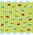 cute seamless pattern with little cars vector image