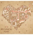 Frame mechanical heart with lots of details vector image