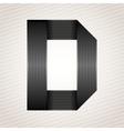Letter metal ribbon - D vector image