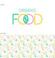 Food logo and pattern vector image