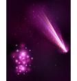 Comet background vector image