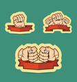 Fist cartoon vector image