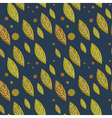 Seamless autumn falling leaves pattern vector image