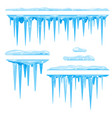 set of icicles cluster vector image