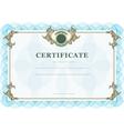 Vintage certificate vector image