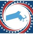 Vintage label Massachusetts vector image