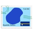 mail to-from Nauru vector image