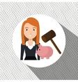 woman piggy saving money vector image