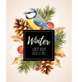 Card with winter cherry vector image
