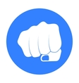 Fist bump icon in black style isolated on white vector image