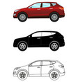 set of terrain vehicles in flat style colored vector image