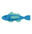 cartoon fish icon image vector image