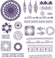 Tribal Bohemian Mandala background with round vector image