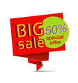 sale red paper banner vector image vector image