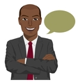 african american businessman with arms folded vector image