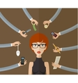 Business woman vector image