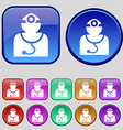 Doctor with stethoscope around his neck icon sign vector image