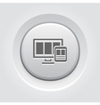Fully Responsive Web Design Icon vector image