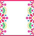 mexican folk wedding or party invitation vector image