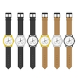 Watches in classic design vector image